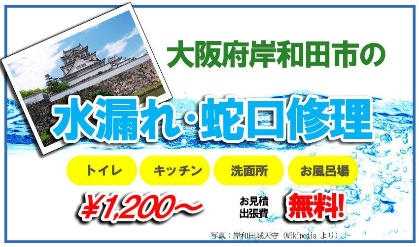 大阪府岸和田市の水漏れ・蛇口修理